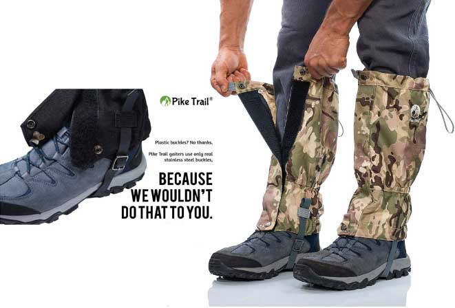 Pike Trail Leg GaitersFor Mountain Hunting, Trekking And Hiking