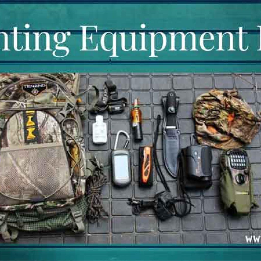 hunting equipment list