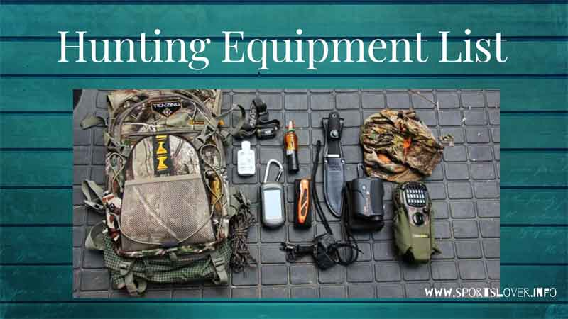 hunting equipment list